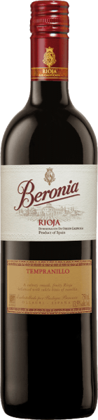 """The Tempranillo Joven of Beronia is a strong, varietal red wine from the famous Spanish region of Rioja. With a dark cherry red and ruby red reflections, this wine shimmers in the glass. The intense bouquet reveals notes of dark berries (especially blackberry) and notes of liquorice. Thanks to the wood finish, the aromas of the nose are accompanied by nuances of coconut and vanilla. This Spanish red wine convinces on the palate with its juicy, powerful character and good structure. The wood finish is perfectly integrated and harmonizes wonderfully with the berry fruit fullness. The long finale is accompanied by a cherry touch and cocoa. Vinification of Beronia Joven Tempranillo The Tempranillo grapes for this red wine are carefully picked by hand in mid-October. In the wine cellar, the harvested material is carefully selected and cold mashed for a few days. As a result, first color pigments and tannins are already extracted from the berry skins. Temperature-controlled fermentation at 26 degrees Celsius takes place in the stainless steel tank. The yeast storage is repeatedly stirred (Bâtonnage). This gives this wine its wonderful complexity and aroma. The fermentation process is complete after 14 days. The """"mixed"""" barrels were made especially for the Beronia winery. These are barrels made of both French and American oak. In these barrels, this Spanish red wine is aged for a total of 8 months before bottling. Finally, this red wine rests for another 6 months in the cellar's own bottle store. Food recommendation for the Rioja Tempranillo Joven from Beronia This dry red wine from Spain is the perfect accompaniment to grilled meat and poultry, Mediterranean vegetable casseroles and pasta dishes, as well as Spanish sausage specialities."""