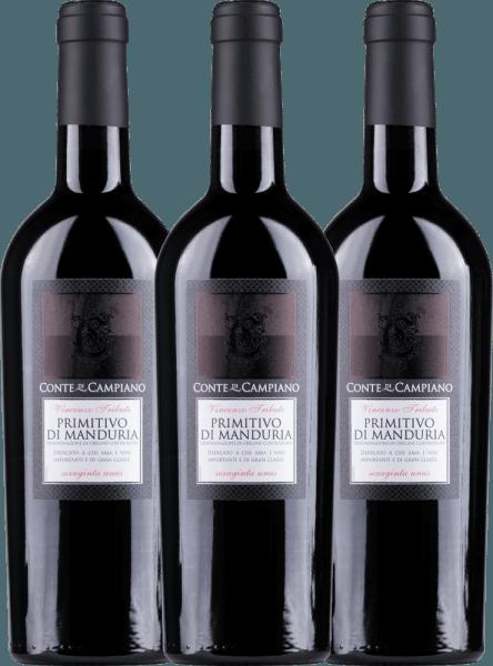 3er Vorteils-Weinpaket Primitivo di Manduria DOC 2019 - Conte di Campiano