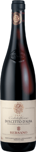 This pure and full-bodied red wine from Bersano is 100% vinified from Dolcetto grapes. Typical flavors of blueberries and raspberries characterize the fruity bouquet. The Dolcetto is distinguished by its complicated nature and an exceptionally dry, soft and harmonious taste. It is an ideal accompaniment to many different dishes, such as, for example, Chicken, steaks, pasta, rice, and fish.