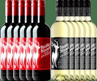 Vorschau: 12er Mixpaket - Bio-Glühwein rot & weiß - Heißer Hirsch