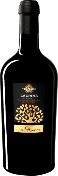Velenosi's Querci Antica Lacrima di Morro d 'Alba Superiore is made from the indigenous Lacrima di Morro d 'Alba grape variety. The name comes from the fruit juice that emerges in tears from the ripened grape berries - a unique characteristic of this grape variety. The Querci Antica Lacrima di Morro Superiore from Velenosi comes into the glass with an intense ruby red colour and smells intensely of strawberries, wild cherries, blackberries and blueberries. Floral shades of violets, mugs and dog roses complement the nose. On the palate, this Lacrima Superiore by Velenosi is wonderfully full-bodied, yet dry in taste and characterized by a balanced and very harmonious tannin. Vinification of Querci Antica Lacrima di Morro d 'Alba Superiore After destemming from the stalk frameworks, the berries are filled into stainless steel tanks, which hold about 100 hl. The fermentation on the peels lasts about 20 days and takes place at a temperature of about 20°C, so that the fruity and floral bouquet of the grape variety can unfold optimally. Food  recommendation for Querci Antica Lacrima Enjoy this wonderful red wine from the brands with stews with beef or rabbit, with Ossobuco or just like that. Awards for the Lacrima di Morro Superiore by Velenosi Luca Maroni: 98 points for 2015 IWSC: Silver for 2015 Luca Maroni: 98 points for 2014 Bibenda: 4 grapes for 2014 IWC: Gold for 2013 Gambero Rosso: 2 glasses for 2012