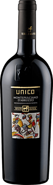 This varietal Montepulciano d 'Abruzzo is revealed in a bright ruby red.The complex and fascinating bouquet of Tenuta Ulisse'S UNICO Montepulciano d 'Abruzzo DOC is dominated by juicy and fruity notes of black cherry and red berries. Afterwards, it is accompanied by animating spicy notes such as peppers and fresh mint, combined with chocolate and subtle caramel notes.We recommend it with red meat, strong risotto dishes, pizza and ripe cheese.