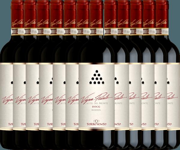 12er Vorteils-Weinpaket - Vigna Pedale Castel del Monte Riserva DOCG 2015 - Torrevento