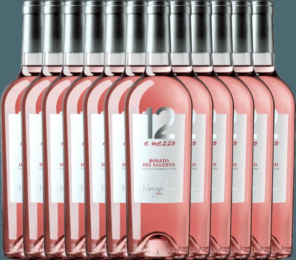 12er Vorteils-Weinpaket - 12 e Mezzo Rosato 2020 - Varvaglione