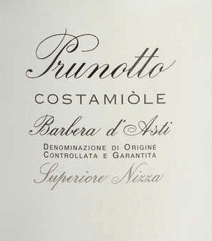 The Costamìole Barbera d 'Asti Superiore Nice DOCG by Prunotto is a magnificent cru from Piedmont. In the glass, the Costamìole Barbera shines in deep dark garnet and ruby red with violet and black reflections. A rich, fruity bouquet unfolds on the nose, especially with aromas of plum and cherry, scents of violet, cinnamon, cocoa and leather. On the palate, the Costamìole is captivating, attractively dense and rich in soft, but well-structured, complex tannins. The finish is long, full of spice and sustainability. Vinification of the Costamìole Barbera d 'Asti Superiore Nice DOCG by Prunotto In the area of Agliano, about 19 km from Asti, between Nice Monferrato and Tiglione, there are 27 hectares of vineyard with Barbera d 'Asti, for the wines Costamìole and Fiulot. The climate is somewhat warmer than in the Alba region, but in some places the soils are similar in composition to the marl soils of Barolo. This vineyard produces fresh and young wines, but also wines with aging potential. Grape varieties typical for the Barbera of Costamìole are fragrances of ripe cherries, plums, blackberries and raspberries, as well as the garnet red color.After destemming and pressing, the grapes are macerated in a temperature-controlled manner on the skins, which are stirred three times a day to obtain a higher extraction. The ageing in French oak barriques over 18 months is followed by a further 18 months of bottle ageing. The Costamìole Barbera d 'Asti Superiore Nice can be stored for at least 13 years. Food recommendation for the Costamiòle Barbera d 'Asti Superiore Nice by Prunotto Enjoy this full-bodied Barbera d 'Asti Superiore as a perfect accompaniment to roasts of red meat, game dishes and matured cheeses.We recommend opening the Costamìole 2 hours before serving. Awards for the Costamiòle Barbera d 'Asti Superiore Nice DOCG by Prunotto I Vini di Veronelli: 94 points - 3 stars Super for 2013 Bibenda: 4 grapes for 2011 James Suckling: 91 points for 2011 Gambero Rosso: 3 glasses for 2009