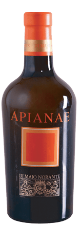 The Apianae Moscato del Molise DOC by Di Majo Norante surprises and delights lovers of wines from the Moscato grape. In the glass, the Apianae shines gently golden yellow with delicate amber reflections. On the nose an intense and at the same time fresh bouquet unfolds with the grape variety typical scents of orange blossoms and citrus honey, in the background candied fruits. The taste is wonderfully sweet and varietal Muscat flavours, yet dry on the palate, balanced by the beautifully integrated, elegant acidity, creamy and  round. Long, sustainable finish with the typical nutmeg note in long reverberation.  Vinification of Apianae Moscato del Molise by Di Majo Norante According to tradition, the ancient Moscato vine was already known in antiquity before Christ and has been popular for centuries; it was cultivated under the name Apicia or Apianae. The 100% Moscato grapes, which grow on sandy and loamy soils of the vineyards of Di Majo Norante, are dried on the plant and kriomazerized. They are then lightly pressed to obtain the scents and fermented slowly at a controlled temperature. The malolactic fermentation is carried out completely in the barrel, followed by 12 months of ageing in stainless steel tubs and a further 6 months of bottle storage.  Food recommendation for the Apianae Moscato del Molise DOC by Di Majo Norante A wonderful meditation wine. For long evenings in philosophical circle. As a dessert wine with cakes and pastries, but also very nice with matured and smoked cheese or with the Paté de Foie, the classic goose stuffing liver. Awards for the Apianae Moscato del Molise by Di Majo Norante Gambero Rosso: 2 glasses for 2013 I Vini di Veronelli: 91 points, 3 stars for 2013 Doctor Wine: 92 points for 2013 Duemila Vini: 5 grapes for 2013 Robert M.Parker: 92 points for 91 points for 2012