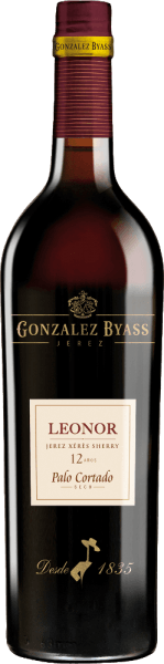 Leonor Palo Cortado by González Byass is a complex sherry made exclusively from the Palomino Fino grape variety grown in the Spanish DO Jerez wine region. In the glass, this wine shimmers in a bright mahogany with a brick-red edge. The bouquet reveals intense, multi-layered aromas of walnuts and hazelnuts - accompanied by notes of the finest oak wood and subtle hints of bitter orange. On the palate, this sherry is wonderfully dry and presents a velvety, soft texture that harmonizes perfectly with the aromas of the nose. The long, aromatic finale is accompanied by a nutty touch. Vinification ofthe ByassPalo Cortado Leonor After the careful harvesting by hand of Palomino Fino grapes, the harvested goods are brought to the wine cellar of Gonzalez Byass. There the berries are gently pressed. At low temperatures, this sherry is fermented and then sprayed on to 18% by volume and placed in the top row of barrels of the Leonor Solera. This sherry matures for about 12 years in American oak Solera barrels before this wine is bottled. Food pairingLeonor Palo Cortado von González Byass Enjoy this dry sherry with matured, spicy cheeses or with strong meat stews, such as Hungarian goulash stew. The Leonor Palo Cortado can best unfold its aromas in a white wine glass. Awards for SherryGonzález ByassLeonor Palo Cortado Wine Spectator: 92 points (2017 edition)