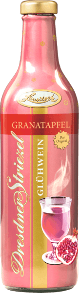 TheDresden Striezel mulled wine Pomegranate from Lusatia surprises with the classic taste of rose wine and the slightly sour tone of the pomegranate. This mulled wine is particularly suitable for girls' evenings in the cold season. For Dresden's culture and winter magic, stands the hunting and baroque castle Moritzburg, once the backdrop of one of the most beautiful fairy tale films.