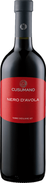 The Nero d'Avola Terre Siciliane IGT from Cusumano presents itself in a dark ruby red in the glass, developing its intense fruity aromas, dominated by notes of red fruits and blackberries. On the palate this red wine from Sicily is fleshy and very inviting. Vinification of Nero d'Avola Terre Siciliane IGT from Cusumano After the manual harvest, the grapes are destemmed, cold macerated for 2 days and then fermented at 26°-28° Celsius. Malolactic fermentation in stainless steel tanks on the fine yeast lasts at least five months. Food pairing for Nero d'Avola Terre Siciliane IGT from Cusumano Enjoy this dry red wine with strong dishes of pork and beef, roasts in dark sauces, or with grilled meat and mild cheeses. Awards for Cusumanos Nero d'Avola Terre Siciliane IGT Falstaff: 90 points for 2015 Robert Parker: 88 points for 2015 Wine Spectator: 87 points for 2014 James Suckling: 90 points for 2013