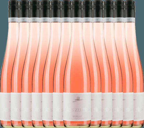 12er Vorteils-Weinpaket - Merlot Rosé eins zu eins feinherb 2020 - A. Diehl