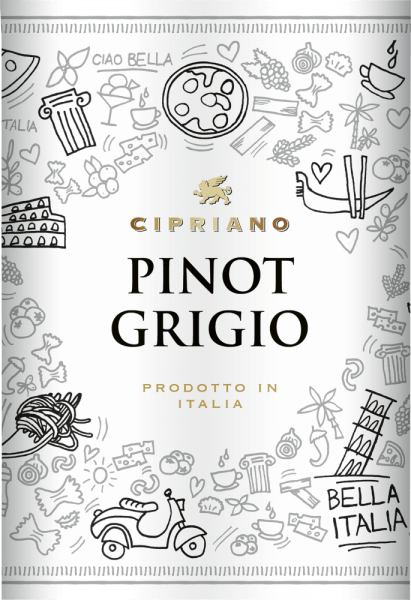 In the glass, the Pinot Grigio Venezie from Cipriano di Venezia reveals a brilliant shimmering copper-gold colour. This varietal Italian wine flatters in the glass with wonderfully expressive notes of morello cherries, pink grapefruit, plums and lemon. This is accompanied by hints of other fruits. The Pinot Grigio Venezie from Cipriano di Venezia is the right wine for all wine lovers who like as little sweetness in their wine as possible. However, it is never sparse or brittle, as you would expect from a wine beyond the supermarkets. Light-footed and complex, this light white wine presents itself on the palate. The Pinot Grigio Venezie is wonderfully fresh and lively on the palate due to its present fruit acidity. The finale of this mature white wine from the Veneto wine growing region finally captivates with a good aftertaste. Vinification of the Pinot Grigio Venezie from Cipriano di Venezia This elegant white wine from Italy is made from the grape variety Pinot Gris. After the harvest the grapes reach the press house as quickly as possible. Here they are sorted and carefully ground. Fermentation follows in stainless steel tanks at controlled temperatures. The vinification is followed by a maturation on fine yeast for several months before the wine is finally bottled. Recommended food for the Pinot Grigio Venezie from Cipriano di Venezia Enjoy this white wine from Italy ideally well chilled at 8 - 10°C as an accompaniment to leek tortilla, vegetable pot with pesto or coconut-lime fish curry.