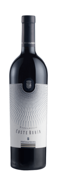 The Coste Rubin Barbaresco DOCG by Fontanafredda is revealed in the glass in an intense ruby red with garnet red shimmer. The delicious aromas of ripe plums, blueberries and violets unfold. These notes are rounded off by delicate notes of liquorice, cinnamon and tobacco. With a good tannin structure and intense fruit, this full-bodied red wine presents itself on the palate. Vinification for the Fontanafredda Coste Rubin Barbaresco After harvesting, the grapes for this varietal Nebbiolo from Piedmont are immediately destemmed and pressed and fermentation is carried out with selected yeasts. In order to optimize the extraction of the colour and tannins, the must is regularly circulated. After maceration lasting 10-12 days, malolactic fermentation follows. For ageing, this wine is first placed in large French oak barrels for one year before maturing for a short time in stainless steel tanks. The maturation process is completed by refining this Barbaresco in the bottle. Food recommendation for the Fontanafredda Coste Rubin Barbaresco Enjoy this dry red wine with red meat and matured cheese.