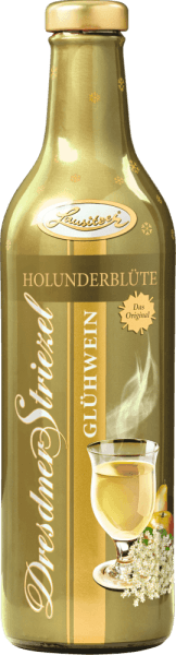 The Dresden Striezel mulled wine elderflower from Lusatia combines the fine taste of elderflower with apple and pear and Christmas spices. Something special at Christmas time. The full aroma makes this white mulled wine a real taste experience. A classic Dresden treat for anyone who wants to immerse themselves in the beautiful atmosphere at Christmas time. As a symbol of Dresden's culture and joie de vivre, the bottle depicts Pillnitz Castle, then the summer residence of the princes and kings. Today popular excursion destination for Dresdner and visitors. No deposit!