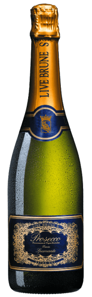 The Live Brune S Prosecco Spumante by Cantine Maschio enchants the senses with its elegant and seductive character. Ripe apples and juicy, yellowish peaches flatter the nose. On the palate the Prosecco Spumante impresses with a gentle balance of fruit, fullness and finesse.