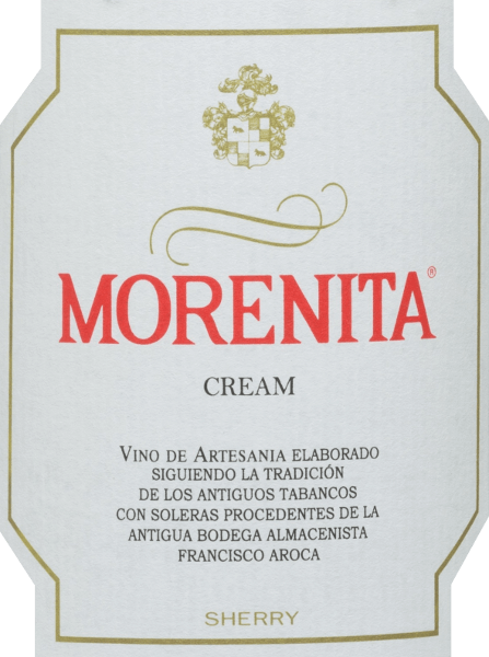 The Morenita Cream from Emilio Hidalgo is a wonderfully sweet sherry from the Palominon (70%) and Pedro Ximénez (30%) grape varieties. The glass reveals an intense amber colour with golden shimmer. A clean delicate bouquet with hints of caramel, dried fruit, nutty notes and mocha enriches the nose. Soft and elegant, this Sherry is a delight to the palate with a well-balanced sweetness and a slightly refreshing taste. The finish has a pleasant length. Vinification of Hidalgo Morenita Cream The hand-picked grapes are destemmed, gently pressed and the resulting must fermented at controlled temperatures in stainless steel tanks. The young wine is then drawn off, sprinkled on and aged in American oak barrels. Once the wine has matured without yeast flor, it is transferred to the traditional Solera system, in which the same type of sherry is matured in barrels arranged one above the other. In the lower barrels (Solera) the oldest wines are stored, while in the upper rows (Criaderas) the youngest wines are stored. The sherry intended for sale is always taken from the lower barrels. However, only a small part (a maximum of one third) is removed and the part removed is then filled with sherry from the upper rows. The whole principle is continued up to the top barrels, where the young wine, the must, is added to the sherry. The oloroso produced under oxidative influence is then mixed with a naturally sweet wine. Food recommendation for the Morenita Cream Emilio Hidalgo There are no limits to the possibilities of enjoyment: this sweet sherry from Spain is recommended both for pure drinking and as an aperitif, as a companion to tapas & canapés and as a dessert wine.