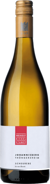 The Scheurebe Thüngersheimer Johannisberg from the wine-growing region of Franconia presents itself in the glass in a brilliantly shimmering light yellow. When swirling the glass, this white wine is characterized by a wonderful brilliance that makes it dance nimbly in the glass. In the glass, this white wine from Bickel-Stumpf reveals aromas of lemons, oranges, limes, pomelo and gooseberries, complemented by lovage, juniper and Mediterranean herbs. This white from Bickel-Stumpf is a good choice for all wine enthusiasts who like as little residual sugar as possible in their wine. However, it never shows itself meager or brittle, as one would expect from a wine of this price range. On the tongue, this light-footed white wine is characterized by an incredibly crisp texture. Due to its vital fruit acid, the Scheurebe Thüngersheimer Johannisberg is fantastically fresh and lively on the palate. In the finish, this white wine from the wine-growing region of Franconia finally inspires with considerable length. Again, hints of grapefruit and kumquat appear. In the aftertaste, mineral notes of the limestone and sandstone dominated soils are added. Vinification of the Bickel-Stumpf Scheurebe Thüngersheimer Johannisberg This elegant white wine from Germany is made from the grape variety Scheurebe. The grapes grow under optimal conditions in Franconia. Here, the vines dig their roots deep into soils of limestone and sandstone. The Scheurebe Thüngersheimer Johannisberg is an Old World wine in the best sense of the word, as this German wine breathes an extraordinary European charm that clearly underscores the success of Old World wines. The ripeness of the grapes for this wine from Scheurebe is influenced to a considerable extent by the climate of the growing region. In Franconia, the grapes thrive in a rather cool climate, which is reflected, among other things, in particularly long and uniform grapes and a rather moderate must weight. After the grape harvest, the grapes reach th