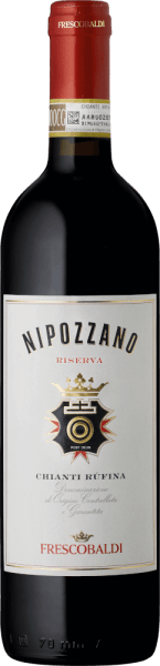 The Nipozzano Riserva Chianti Rufina DOCG from the Frescobaldi wine Castello di Nipozzano is presented in a clear, strong crimson. The intense and complex bouquet is dominated by floral and fruity aromas such as raspberry, blackberry and blueberry, followed by roasted and spicy notes such as nutmeg, coffee and tea. On the palate, this Chianti Riserva by Frescobaldi is warm, soft and pleasantly spicy with beautifully integrated tannins. Fresh and elegant, this red wine from Tuscany glides into a long and sustainable finish. Production of the Nipozzano Chianti Rufina Riserva by Frescobaldi This historic red wine from Castello di Nipozzano is produced mainly from Sangiovese and in small parts from other approved grape varieties. These include traditional grapes, such as Malvasia Nera and Colorino, but also Merlot and Cabernet Sauvignon. The winter of 2014 was rather mild, which also caused an early shooting of the vines in mild spring. The particularly fresh summer with well-distributed rainfall slowed down the vines' growth well. At the end of July and in the first week of August Castello di Nipozzano recorded particularly high temperatures, which initiated the colour change of the grapes for the Nipozzano Chianti Rufina Riserva. The temperature difference between day and night also favoured maturity. The very good weather in September guaranteed a balanced ripening, which produced healthy grapes of the best quality. After mash fermentation with frequent undershooting of the dishes, the Riserva is aged for 24 months, partly in wooden barrels, partly in stainless steel tanks. Food recommendation for the Nipozzano Riserva Chianti Rufina by Frescobaldi We recommend this top red wine from the Frescobaldi Prestige wine Castello di Nipozzano with red grilled meat, lamb roast and matured pecorino. Awards for the Nipozzano Chianti Riserva Mundus Vini: Gold & Best of Show Chianti Robert Parker: 91 points for 2013 James Suckling: 91 points for 2013 Bibenda: 3 grapes for 2012 Ga