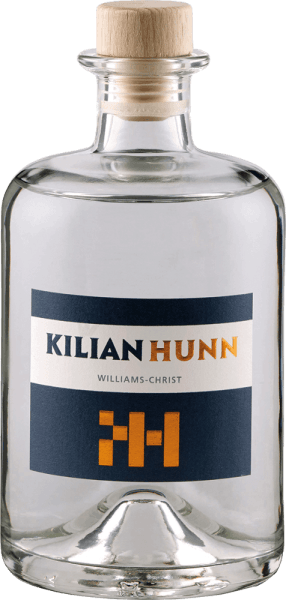 The Williams Christ pear by Kilian Hunn flatters the nose with a wonderful and intense aroma of Williams Christ pears. On the palate, the aromas of the peels of Williams Christ pears can be perceived superficially, in the background, subtle hints of citrus fruits and honey melon can be seen. The finish is again clearly marked by Williamsbirnen. The gentle and slow cooling fermentation and the subsequent rest period after fermentation gives this noble brand its special taste structure. Serving recommendation for the Kilian Hunn Williams Christ Enjoy this pear brandy as a digestif, with pear tart and apple strudel or with cheese.