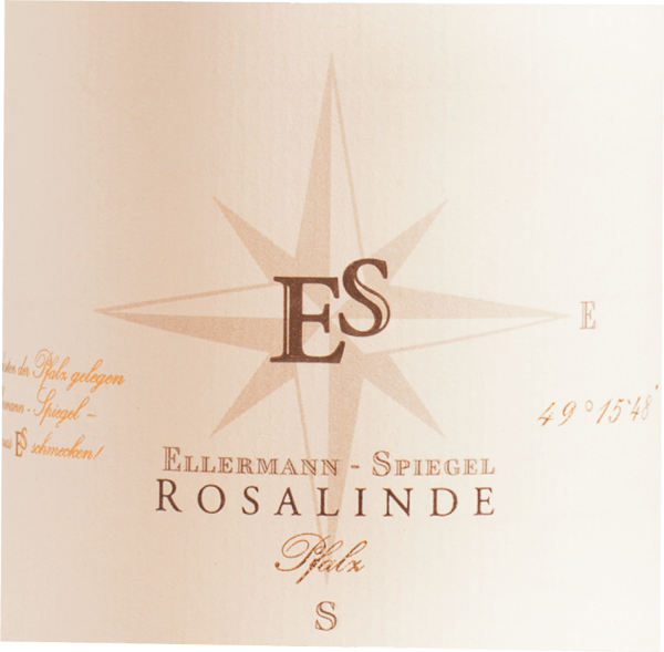 The Rosalinde Rosé by Ellermann-Spiegel from the Palatinate offers a brilliant, bright rose-red colour in the glass. In the centre, this rosé wine also shows charming rose gold highlights. After the first swirl, this wine is characterized by a magnificent brilliance, which makes it dance energetically in the glass. This German cuvée presents wonderfully expressive notes of physalis, papayas, star fruits and gallia melons in the glass. In addition, there are hints of other fruits. This German wine impresses with its elegantly dry taste and was brought to the bottle with exceptionally little residual sugar. With a wine in the entry-level area absolutely no matter of course, this German wine naturally enchants with the finest balance in all dryness. Taste does not necessarily require sugar. On the tongue, this light-footed rosé wine is characterized by an incredibly light texture. The final of this rosé from the Palatinate impresses with good reverberation. Vinification of Ellermann-Spiegel Rosalinde Rosé The elegant Rosalinde Rosé from Germany is a cuvée made from the grape varieties Blauer Portugieser and Spätburgunder. After the grape harvest, the grapes reach the press house in the fastest way. Here you will be sorted and carefully broken up. After juice extraction, fermentation in the stainless steel tank follows at controlled temperatures. After its end, the Rosalinde Rosé can continue to harmonise on the fine yeast for a few months. Food recommendation for Ellermann-Spiegel Rosalinde Rosé Enjoy this rosé wine from Germany ideally chilled at 8 - 10°C as an accompaniment to omelette with salmon and fennel, asparagus salad with quinoa or coconut lime fish curry.