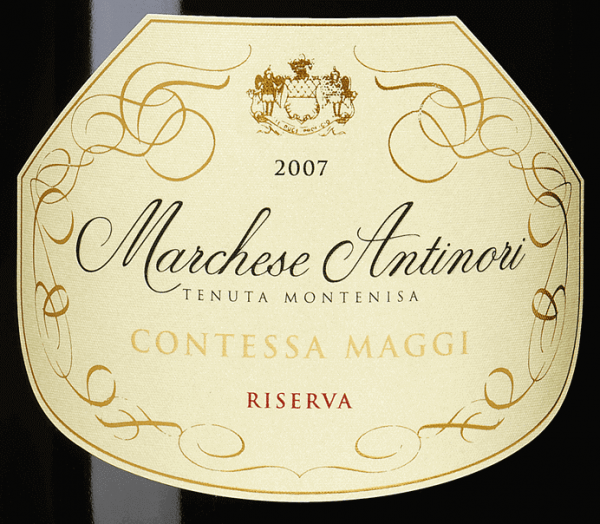 """The Marchese Antinori Contessa Maggi Riserva Franciacorta DOCG by Tenuta Montenisa of Marchesi Antinori is dedicated to Comtesse Camilla Maggi, wife of Conte Aimo, former owners of Tenuta Montenisa. The Contessa Maggi Riserva Franciacorta DOCG shines in pale golden yellow with brilliant greenish reflections in the glass and a subtle, creamy foam with very delicate perlage. The bouquet inspires with inviting, intense aromas of ripe white fruits, rich and very appealing. Complex, balanced, elegant, full-bodied and of good structure, this very beautiful Riserva Franciacorta presents itself on the palate. Very long and persistent, harmonious finish. Vinification of the Marchese Antinori Contessa Maggi Riserva Franciacorta DOCG from Tenuta Montenisa The Spumante Riserva of the """"Millesimé"""" line is vinified from Chardonnay and Pinot Noir and represents the tradition of the sparkling wines of Franciacorta in their highest form. 75% Chardonnay and 25% Pinot Noir undergo alcoholic fermentation in stainless steel tanks and small barriques, followed by malolactic fermentation and ageing on fine yeasts in the bottle for 60 months. Food pairings for the Marchese Antinori Contessa Maggi Riserva Franciacorta DOCG from Tenuta Montenisa This elegant Riserva Franciacorta goes particularly well with medium intensity pasta and risotto, white meat, fish soups and fish in general."""
