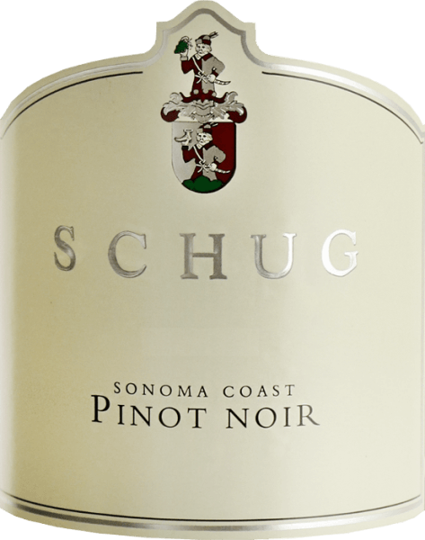 The Pinot Noir Sonoma Coast by Schug Winery glows in the glass in a ruby red with garnet red reflections.  The expressive aromas are reminiscent of juicy cherries, ripe strawberries with hints of spices. Due to the ageing in the wood, the palate enjoys typical grape varieties with subtle wood tones. The tannin structure is perfectly integrated into the velvety texture. The finale of this red wine is wonderfully long and balanced.  Vinification of the Schug Pinot Noir Sonoma Coast This red wine is vinified in the style of a Burgundian villa.  After hand-picking the Pinot Noir grapes from  the Carneros, Sonoma, North Coast, Mendocino and North Coast regions, grapes are gently pressed. The mash is then fermented in a stainless steel tank. For the fine wood tones and tannins, this red wine is aged in large wooden feeds made of French oak.  Food recommendation for the Sonoma Coast Pinot Noir by Schug Winery This dry red wine is the perfect accompaniment to mushroom dishes with spaetzle, pork medallions in the bacon coat and beans or to sour roasts with dumplings and blueberry.  Awards for Schug Winery Sonoma Coast Pinot Noir James Suckling: 93 points for 2015 Tastings: Silver Medal and 89 points for 2015