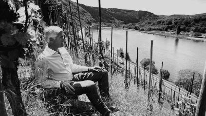 Adolph Huesgen on the vineyard Enkricher Zeppwingert
