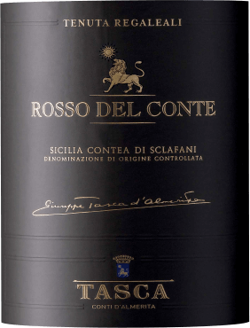 The Rosso Del Conte Contea Di Sclafani is a historical cru from the house of Tasca d' Almerita. In the ruby red glass, aromas of cherry, wild berries and nuts unfold on the nose, accompanied by hints of vanilla, cinnamon, tobacco and Mediterranean aromatic herbs. In the taste this red wine from Sicily presents an impressive concentration and elegance, on the palate with harmonious tannins and richness, the finish is long and persistent. Vinification of the Rosso del Conte Contea di Sclafani from Tenuta Regaleali For this red cru, Nero d' Avola 54%, Perricone with 26% and 20% of other local red grape varieties growing on hillsides in the San Lucio vineyard are vinified together. The soils are clayey, fine and with slight proportions of limestone. The manual harvest begins with the Perricone at the end of September and ends with the Nero d' Avola at the end of October. The grapes are then vinified in classic red wine, fermentation and malolactic fermentation takes place at a controlled temperature in stainless steel tanks. The wine then matures for 18 months in 225-litre French oak barriques. The Rosso del Conte was first produced in 1970 and was the first wine of its kind to present the potential of quality and life expectancy of Sicilian wines. Created by Conte Giuseppe, it expresses the characteristics of the Regaleali estate and is an example of continuous development. The two main grape varieties, Perricone and Nero d' Avola, grown in the San Lucio vineyard, became the first Cru wine from the Vigna Unica vineyard in Sicily. The first wines until 1987 were aged in chestnut barrels, followed by large barrels of Slavonic grape oak and, from 1991, tonneau and barrique of French grape oak. Food pairing for the Cru Rosso del Conte Contea di Sclafani by Tenuta Regaleali of Tasca d' Almerita We recommend this first-class Sicilian red wine enjoyed at room temperature with hearty dishes of red meat, lamb, game, beef, spicy cheeses, tasty salami and typical Sicilian regional products. Awards for the Rosso del Conte Contea di Sclafani of Tasca d' Almerita Gambero Rosso: 2 glasses for 2013 Duemilavini: 5 grapes for 2013 Doctor Wine: 97 points for 2013 Veronelli: 94 points for 2013 James Suckling: 96 points for 2013 Jancis Robinson: 17.5 points for 2013