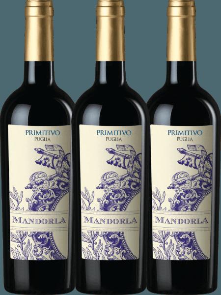3er Vorteils-Weinpaket - Primitivo Puglia IGT 2019 - Mandorla