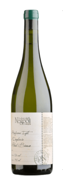 The Dogheria Pinot Bianco Rubicone IGT by Poderi dal Nespoli shows up in the glass in a light straw yellow and flatters the nose with delicate floral aromas of jasmine and orange blossoms. The bouquet of this white wine cuvée is rounded off by a hint of citrus and green apple. On the palate, this white wine is spicy and balanced with an intense freshness that ends in a long and elegant aftertaste. Vinification for the Dogheria Pinot Bianco The name Dogheria comes from the vineyard of the same name, in which the vines for this wine are rooted. This cuvée is vinified from Pinot Bianco and Sauvignon Blanc grape varieties. Food recommendation for the Dogheria Pinot Bianco Enjoy this dry white wine with tuna sashimi with wok vegetables, seafood and grilled fish or pasta. Awards for the Dogheria Pinot Bianco International Wine Challenge: Bronze for 2016