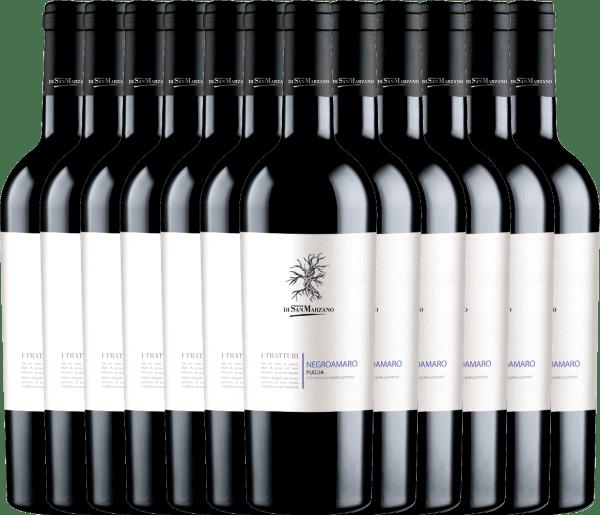 12er Vorteils-Weinpaket - I Tratturi Negroamaro 2019 - Cantine San Marzano