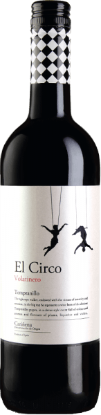 """The El Circo """"Volatinero"""" Tempranillo appears in a light cherry red in the glass. The nose is filled with black fruits, especially plums and blackberries. These flavours are complemented by floral notes and a hint of liquorice. On the palate, this Spanish red wine is fresh and fruity. Food recommendation for the El Circo """"Volatinero"""" Tempranillo Enjoy this dry red wine with spicy meat dishes or tapas."""