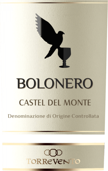 In the glass, the Bolonero Castel del MONTE DOC of Torrevento has a bright dark red with violet highlights. An expressive bouquet of juicy black fruits unfolds in the nose - especially blackberry, blackcurrant and black cherries. On the palate, this Italian red wine has a full body, which is accompanied by a gentle, slightly spicy texture. The finale comes with a pleasant length. Overall a very balanced cuvée from Nero di Troia and Aglianico. Vinification of the Bolonero of Torrevento from Puglia The grapes come from the province of Bari, the Murgia plateau. According to conventional cultivation methods, the vines are cultivated in the Alberello system. Aglianico (30%) and Nero di Troia (70%) traditionally undergo mash fermentation and are completely expanded for 8 months in a stainless steel tank. Food recommendation for the Bolonero Castel del Monte of Torrevento Enjoy this dry red wine from Puglia with all kinds of game dishes, steaks fresh from the grill , pasta or even matured cheeses.