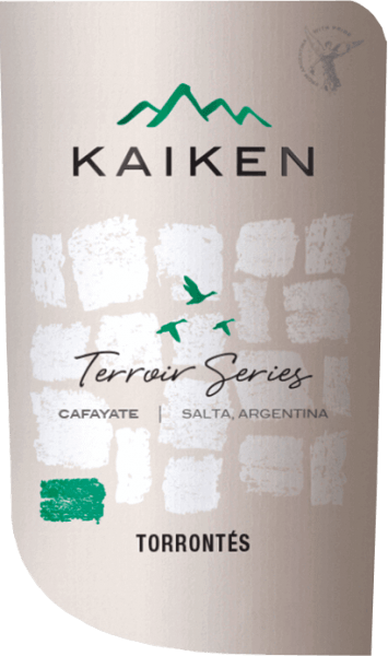 The Terroir Series Torrontes by Viña Kaiken is a fresh, grape-varietal white wine from the Argentine wine region Salta from the vineyards Valle de Cafayate.  In the glass, this wine shines in a bright greenish yellow with golden reflections. The lavishly fruity and elegant bouquet reveals varietal aromas of limes, grapefruit and freshly grated orange peels. This is accompanied by wonderfully woven notes of grapes and flowers. Delightfully fresh and lively, this Argentinian white wine presents itself on the palate. The racial acidity is perfectly integrated into the crisp body and accompanies to the finale of beautiful length.  Vinification of Kaiken Torrontes Terroir Series In March the Torrontes grapes are harvested for this white wine in Cafayate. The harvested material is collected in small boxes and immediately brought to the Kaiken winery. There, the berries are completely destemmed and gently ground. Approximately 15% of the readings are cold mashed for 4 hours. This adds complexity to this wine. The must is then fermented in stainless steel tanks for about 3 weeks at a controlled temperature (12 to 16 degrees Celsius). After the fermentation process has been completed, this wine remains on the fine yeast for 6 months.  Food recommendation for the Torrontes Terroir Series Kaiken  Enjoy this dry white wine from Argentina well chilled as an aperitif. This wine also goes well with fish in fine sauces, fresh pasta with crisp vegetables, Asian dishes with light spice or even with mild goat's cheese.