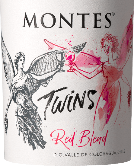 The deep red colour of the Montes Twins Red Blend is reminiscent of a vibrantly sparkling ruby with violet shimmer. In addition to intense aromas of ripe red and black fruits such as blackberries, dark plums and black currants, sweet spices (baking aromas) and caramel spread in the background in the fruity nose. The bouquet is lined with delicate notes of barrique maturity such as oak, tobacco leaf, fresh coffee, vanilla and dark chocolate. On the palate, this Chilean red wine is extremely soft, round and smooth, but at the same time powerful, structured and full-bodied. The juicy fruit of the bouquet flatters the palate with the tangible yet gently ripened tannin. This red wine flows with elegance and balance into a long reverberation that expresses the balance of strength and melting, vibrant fruit, tannin and delicately integrated oak wood. Vinification of the Red Blend Montes Twins This red wine is vinified from Cabernet Sauvignon (35%), Syrah (30%), Carménère (25%) and Tempranillo (10%) grape varieties. The grapes for the Montes Twins Red Blend come from vineyards in the Apalta and Marchigue regions. Once the grapes have reached their optimum ripeness, they are carefully picked by hand, strictly sorted and traditionally fermented on the mash under controlled temperature conditions. After fermentation, about 50% of the wines are stored in French oak barriques for twelve months. Finally, you marry all batches to make this wonderful red wine and pour it on the bottles. Food recommendation for the Montes Twins Enjoy this dry red wine from Chile with juicy grilled chops, steak and entrecote to roast beef and lamb leg with herbs. However, this red wine also harmonizes with spicy (oriental-style) meat stews, meatless oven dishes with many herbs and pasta with gently braised tomato sauce.