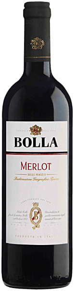 Bolla's spicy Merlot delle Venezie IGT displays intense scents of dried plums, liquorice, vanilla, white pepper and tobacco.It is a full, round red wine, light and elegant, of medium body. Food Pairing/Food recommendation for the Merlot delle Venezie IGT from Bolla You can enjoy it optimally with grilled food.