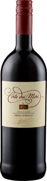 The Terre Siciliane Nero d 'Avola IGT by Corte dei Mori - Cantine Francesco Minini appears in the glass in a deep ruby red with a wonderful bouquet of cherries, bitter almond, a hint of eucalyptus and a subtle spice. This red wine from Sicily is silky on the palate with pleasant tannins and impresses with its juicy fruitiness. Food pairings for the Terre Siciliane Nero d 'Avola IGT by Corte dei Mori - Cantine Francesco Minini Enjoy this dry red wine with pasta with tomato sauce, tender pork and beef dishes and mild cheese. Awards for the Terre Siciliane Nero d 'Avola IGT by Corte dei Mori - Cantine Francesco Minini Mundus Vini: Gold (vintages 2016, 2015) Daejeon Wine Trophy: Gold (vintage 2012) Decanter: Bronze (vintage 2010)