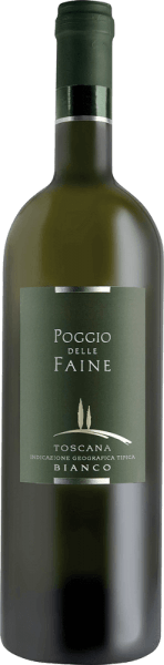 The Bianco IGT by Poggio delle Faine sparkles in the glass in a bright golden yellow as it unfolds its wonderful bouquet. This enchants with the fresh aromas of kiwi, pear and banana with a hint of citrus fruit. This Chardonnay, aged for 4 months in barrique barrels, is present on the palate with a refreshing acidity. Its reverberation is mineral. This white wine is the perfect white counterpart to the popular Rosso IGT from Poggio delle Faine. Food recommendation for the Bianco IGT by Poggio delle Faine Enjoy this dry white wine with fish and light meat, pasta and medium strength cheese.