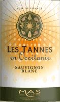 Vorschau: Sauvignon Blanc Pays d'Oc IGP 2019 - Les Tannes en Occitanie