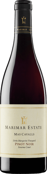 The grapes for the complex, grape varietal Mas Cavalls Pinot Noir from Marimar Estate grow in the single location Doña Margarita Vineyard in the American wine-growing region Sonoma Coast. In the glass, this wine shimmers in a deep ruby red with garnet red highlights. The seductive bouquet is carried by intense aromas of ripe blueberries, blackcurrants and raspberry jam - accompanied by the fruity aromas of terroir-typical mineral notes and spicy tones. On the palate, this American red wine presents itself with a round, multi-faceted body. The aromatic fruit fullness balances very well with the spiciness and the perfectly integrated, firm tannin structure. This wine finishes with a wonderful length and elegance. Vinification of Marimar Mas Cavalls Pinot Noir The Pinot Noir grapes for this red wine are harvested by hand in the California cultivation area Sonoma. Once the harvested material has arrived in the wine cellar of Marimar, it is only slightly squeezed and fermented with natural environmental yeasts in the stainless steel tank. After the fermentation is complete, this wine is aged in premium wood barrels for 12 months (49% new wood). After maturing in oak wood, this red wine is poured onto the bottle unscented and unfiltered and remains on the bottle for a longer period of time before it leaves the winery. Food recommendationfor Mas Cavalls Pinot Noir Marimar Serve this dry red wine from the USA with roast beef in a herb coat and swirled potatoes, mushroom pan dishes, wild boar ragout with noodles and cranberries or with selected terrines and pies. Awards for Pinot Noir Marimar Mas Cavalls Robert M. Parker - The Wine Advoate: 90 points for 2013
