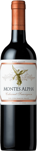 The Montes Alpha Cabernet Sauvignon is a wonderful red wine cuvée of Cabernet Sauvignon (90%) and Merlot (10%). In the glass this Chilean red wine delights with a strong ruby red color. The elegant, complex and intense bouquet unfolds strong aromas of violets and red fruits - especially heart cherries -  as well as notes of blackberry, chocolate and black pepper with a hint of cigar box. Vanilla, caramel and coffee notes of the oak maturity complete the aromas of the nose. On the palate, this fine and excellent red wine from Chile convinces with a wonderful balance, a great structure, a medium body and firm and round tannins. This red wine closes with a long and persistent reverberation. Vinification of Cabernet Sauvignon Montes Alpha Both the Cabernet Sauvignon and the Merlot grapes are harvested by hand at optimum ripeness. After complete destemming, the grapes are separated from each other and fermented. Alcoholic fermentation is followed by an extended mashing life. This gives this red wine its strong aromas, intense color and wonderful tannins. The ageing for this red wine takes place for 12 months in French oak barriques. Only when bottling is the Montes Alpha Cabernet Sauvignon harmoniously rounded off with the 10% Merlot content.  Food recommendation for the Montes Alpha Cabernet Sauvignon This dry red wine from Chile is an ideal accompaniment to pasta with Bolognese sauce, red meat, roasted veal chops with Cabernet sauce, pork ribs, Mongolian beef and dark chocolate.