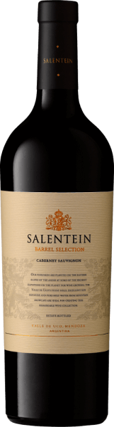 The Barrel Selection Cabernet Sauvignon of the Bodegas Salentein shows an almost black color in the glass, so dark and dense is the crimson wine. Itdelights the nose with a complex bouquet and seduces with an aroma of red and black fruits. In the foreground are blackcurrants, cassis and blackberry followed by some elderberry. A nuance of tobacco and fine barrel notes of vanilla, cinnamon and cedar wood complement the overall impression. On the palate, the Barrel Selection Cabernet Sauvignon by Salentein is elegant, velvety-soft and powerful. The very long finale is firm and equally elegant. Food recommendation for the Barrel Selection Cabernet Sauvignon from Bodegas Salentein Enjoy this dry red wine with game dishes, for example with wild boar roasts with red cabbage and dumplings, with ripe hard cheese, Pasta al Forno or with noble bitter chocolate.