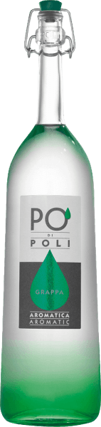 The Po' di Poli Aromatica by Jacopo Poli is a full-bodied aromatic grappa distilled from the marc of the Traminer grape. In the glass, this Italian marc brandy is presented in a clear, transparent color. The intense bouquet reveals aromas of sweet raisins, subtle hints of pepper and fine balsamic herbal nuances. On the palate, this grappa is wonderfully full-bodied with a taut structure. The finale comes with a wonderful aroma and length. Distillation of Jacopo Poli Po' di Poli Aromatica The still fresh marc of the Traminer grape is traditionally distilled in old copper burners. After the firing process, this grappa still has 75% by volume. By adding distilled water, this pomace brandy reaches an alcohol content of 40% by volume. This grappa then rests in stainless steel tanks for a total of 6 months, after which it is gently filtered and filled onto the bottle. Serving recommendation for the Po' di Poli Aromatica Jacopo Poli Grappa At a temperature of 10 to 15 degrees Celsius, it is best to reveal the varied aromas. This grappa is an excellent accompaniment to a delicious menu.