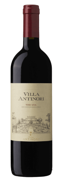 The Villa Antinori Rosso Toscana IGT by Marchesi Antinori shines intensely ruby red in the glass. A complex bouquet unfolds on the nose with distinct, appealing aromas of red fruit, ripe plums, juicy cherries and berries, framed by spice notes, vanilla, peppermint and hints of boxwood. Soft, velvety tannins, harmonious texture delight the palate and conclude in a long, tasty final. Vinification of Villa Antinori Rosso Tuscany by Marchesi Antinori Tuscan and international grape varieties are vinified for this Rosso Toscana IGT: Sangiovese, Merlot, Petit Verdot, Cabernet Sauvignon and Syrah. The grapes are harvested individually, depending on the degree of ripeness of the grapes, the last to be harvested are Petit Verdot and Sangiovese. After destemming and gentle pressing, alcoholic fermentation and maceration of the individual grapes follow at a controlled temperature in order to promote the extraction of the dyes, the soft tannins at Cabernet, Sangiovese and Petit Verdot, and the aromas at Syrah and Merlot. After malolactic fermentation in October and November, the wine is transformed into French, American and Hungarian oak barriques and aged for about a year. The cuvée then rests in the bottles for about half a year before the wine is sold. Marchese Niccolò Antinori, the father of Piero Antinori, first produced the red Villa Antinori in 1928. Piero Antinori developed the Villa Antinori further in 2001 when he became Toscana IGT, produced from the best grape selections exclusively from the Tuscan goods in his own possession. As a historic wine of Marchesi Antinori, the design of the label has remained unchanged since 1928; it has only been slightly revised over time. Food recommendation for Villa Antinori Rosso Toscana IGT by Marchesi Antinori Enjoy this pleasant Tuscan red wine with pasta with tomato sauce, mushrooms, cold cuts, grilled red meat, in tomato sauce or as roast, game, ripe cheeses. Awards for Villa Antinori Rosso Toscana IGT by Marchesi Antinori James