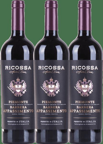 3er Vorteils-Weinpaket - Barbera Appassimento DOC 2019 - Ricossa