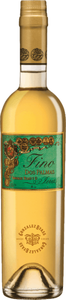 The Dos Palmas Fino by Gonzalez Byass is a pure, smooth sherry from the Spanish DO Jerez wine region. In the glass, this wine has a bright green-golden color with bright golden highlights. The typical bouquet flatters the nose with expressive, intense aromas of nuts (especially hazelnuts and almonds), freshly baked brioche and fine oak wort. On the palate, this sherry convinces with a spicy-nut aroma, delicate melting and the characteristic bitterness of a matured fino. The smooth texture envelops the powerful body and accompanies it into the pleasantly long finale. Vinification of Gonzalez Byass Dos Palmas Fino After the careful harvesting of the Palomino Fino grapes in September, the harvested goods are gently ground in the wine cellar of Gonzalez Byass. At low temperatures, this sherry is fermented and then sprayed onto 15.5% by volume and placed in tio-pepper soleras. For 8 years, this sherry matures in American oak barrels and is unfiltered after this maturation period and filled unpleasantly by hand onto the bottle. Food recommendation for the Dos Palmas Byass Fino This dry sherry is a wonderful soloist who brings out his aroma in a small wine glass. Or accompany this wine with small game or fish dishes in creamy sauce. Awards for Fino Dos Palmas Gonzalez Byass Robert M. Parker - Wine Advocate: 93 points Wine Spectator: 90 points (awarded December 2017)