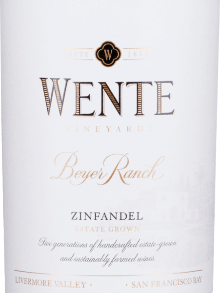 From the Zinfandel (80%) and Petite Sirah (20%) grape varieties, the full-bodied, round Beyer Ranch Zinfandel is vinified by Wente Vineyards from the American wine-growing region of California.  In the glass, this wine shimmers in a deep ruby red with purple highlights. The nose enjoys a spicy-fruity bouquet with aromas of wild berries (especially raspberry and blackberry), juicy cherries - elegantly accompanied by freshly ground pepper and some oak wort. The aromas of the nose are also reflected on the palate and are perfectly supported by a full-bodied structure and round body. The tannins are wonderfully integrated and accompany you to the long, beautiful finale.  Vinification of Wente Beyer Ranch Zinfandel  After the two grape varieties have been harvested, the grapes are fermented separately in stainless steel tanks in the wine cellar of Wente Vineyards. We pump over the mash two to three times a day. After the fermentation process is complete, this American red wine is aged both in stainless steel tanks and in oak barrels.  Food recommendation for  the Zinfandel Wente Beyer Ranch Enjoy this dry red wine from the USA with appetizers - such as tapas or antipasti - lamb skewers fresh in the grill, or with roasts in dark sauce.