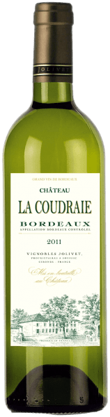 A pale straw yellow along with green-gold highlights sparkling wine drinkers counter at the sight of this wine in the glass. The very fragrant, aromatic and fresh bouquet of Château La Coudraie Bordeaux AOC by Vignobles Jolivet reminiscent of ripe citrus, honeysuckle, gooseberry, acacia and lime blossom, peach and some jasmine and black currant. The aromatic and fruity taste gives wealth, power, and a bitter freshness. Also on the palate, the fragrant aromas of elegant bouquets are beautiful present. A classic white Bordeaux fresh and balanced, with fine minerality, good acidity and nice fruit. Elegant aperitif, with crabs, shrimp and fresh oysters to salmon tartare and Lachsklößchen to fish and fish soups, quiches light, Mediterranean vegetables and delicately aromatic goat cheese. Data from Château La Coudraie Bordeaux AOC - Vignobles Jolivet: Winery: Vignobles Jolivet Country: France Region: Bordeaux Grape: 60 % Sauvignon Blanc, Semillon 20 %, 20 % Muscadelle content: 0 , 75 l Alcohol content: 13,00 Vol % residual sugar: 3,50 g / l Total Acidity: 1.70 g / l Optimum serving temperature: 10 ° C Shelf life: 2-3 years from vintage barrel maturation: in stainless steel tanks