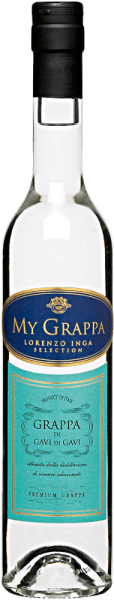 The My Grappa Gavi di Gavi by Lorenzo Inga is clear in the glass and with a long-lasting and fruity aroma. This fine marc brandy made from 100% cortese grapes is elegant on the palate with subtle hints of bitter almond. Serving recommendation for the My Grappa Gavi di Gavi by Lorenzo Inga Enjoy this grappa as an aperitif, digestif or with a cup of espresso.