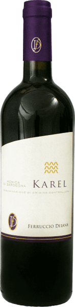 This accessible red wine has a medium ruby red colour with violet shades.Ferruccio Deiana's Karel Monica di Sardegna has a delicate yet penetrating bouquet and a well-balanced taste.We recommend it with braised meat and medium mature cheese.