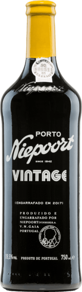The Vintage Port of Niepoort is an excellent, outstanding port wine from Sousão, Tinta Amarela, Tinta Cão, Tinta Francisca, Tinta Roriz, Touriga Francesa, Touriga Nacional and other red Portuguese grape varieties.  The glass shows a strong opaque violet with a black core. The intense bouquet reveals wonderful aromas of full berry fruit, cassis and floral notes of violet. This is accompanied by hints  of dried figs, liquorice and freshly ground white pepper. On the palate, this port wine is wonderfully concentrated with a fantastic acidity structure and firm, compact tannin. The finale comes with an incredible length and floral accents.  Vinification of Port Vintage Niepoort The grapes for this port wine are harvested manually. The harvest took place in September. The grapes harvested at the beginning of September have a higher acidity - the grapes harvested in the second half of September have a higher ripeness. This gives this port its wonderful concentration, finesse and elegance.  In  the Vale de Mendiz wine cellar, the harvested goods (without destemming) are foot tamped in granite warehouses using a traditional method. Over the winter, this wine is now stored in oak barrels (Tonéis) in the Douro Valley. In April, the barrels are brought to Vila Nova de Gaia  and the final blend matures for a total of 2 years in oak barrels and wood fodder.  Food recommendation for Niepoort Vintage This port wine goes wonderfully with blue mold, precious mushroom and strong hard cheese (matured Manchego), fruits and desserts. And always remember: vintage port wine should be decanted! Awards for the Vintage Port of Niepoort Wine Plus: 97 points for 2015 James Suckling: 95 points for 2015 Robert M. Parker: 95 points for 2015